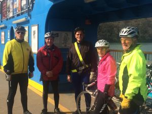 easy riders on the King Harry Ferry 15.03.15